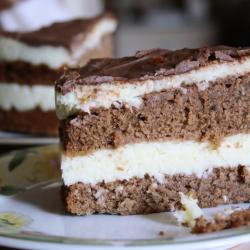 Приготовление шоколадно-кокосового торта