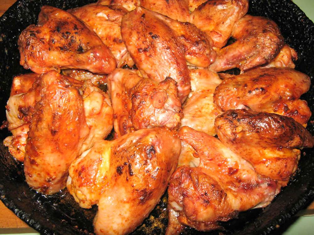 Калории в куриных крылышках в духовке