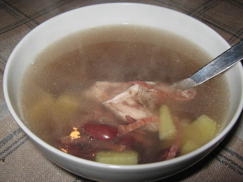 простые рецепты суп из консервированной фасолью