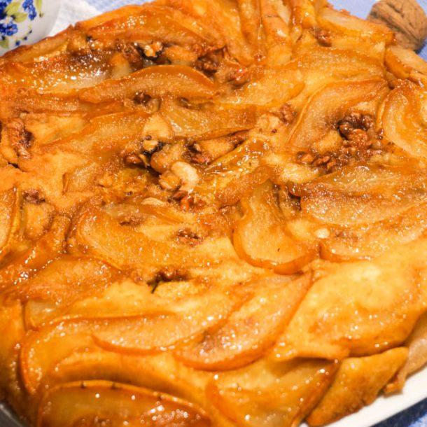 Французский пирог с грушами