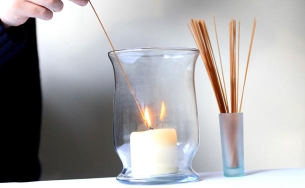 Как зажечь свечи с помощью спагетти