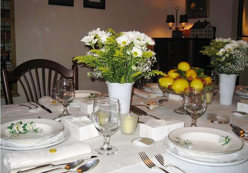 сервировка стола в картинках в домашних условиях