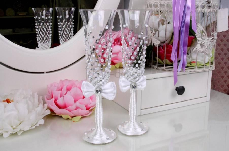 Создание свадебных бокалов своими руками