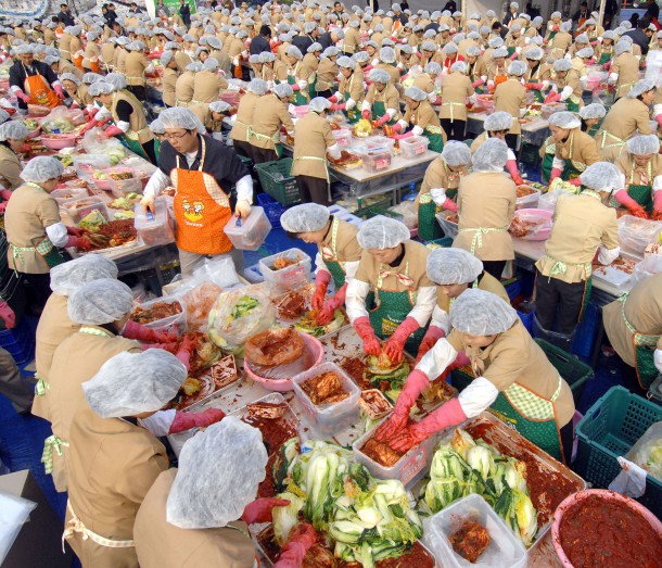 Масштабный фестиваль кимчи в городе Кванджу