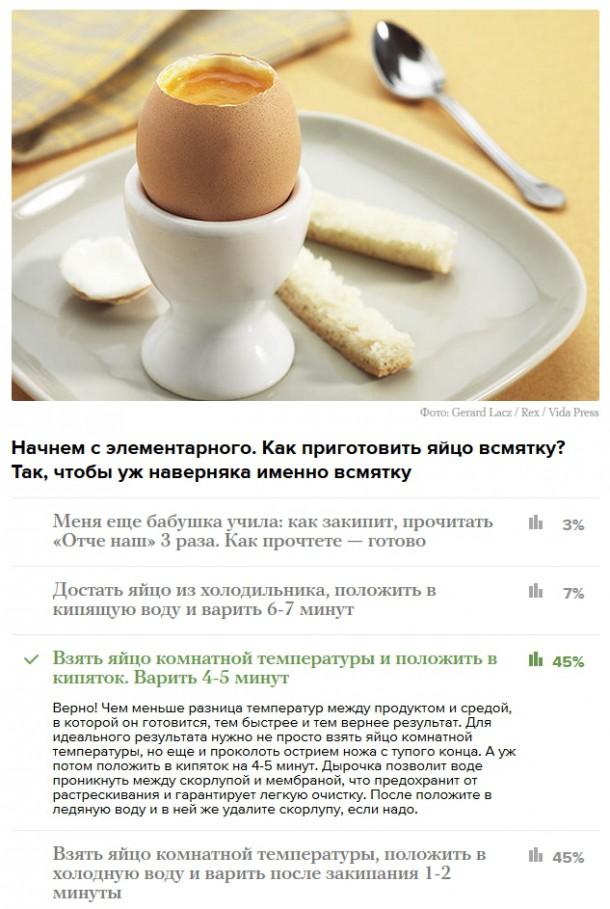 Вы умеете готовить? Кулинарный тест от Медузы