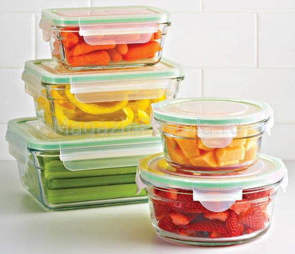 Стеклянные ёмкости для хранения продуктов