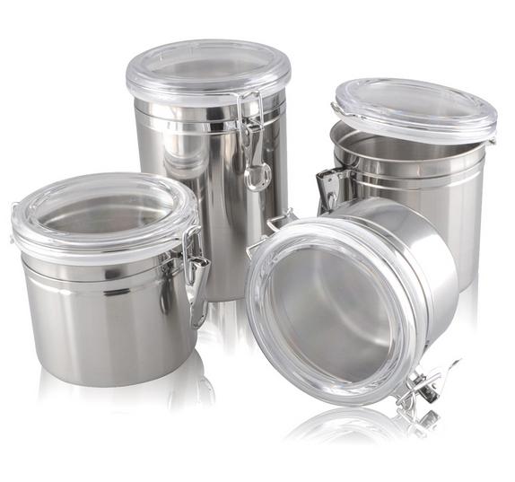Емкости для хранения продуктов из нержавеющей стали