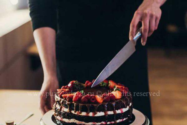 рецепт торта с клубникой и творожной начинкой