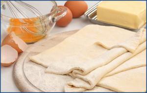 Слоеное тесто для приготовления пиццы