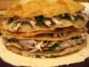 Как готовить курник с блинами
