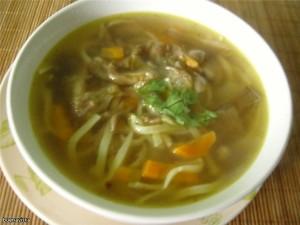 Грибной суп с вешенками