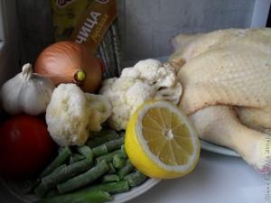 Цветная капуста с курицей в мультиварке