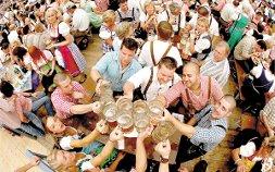 Крупный фестиваль пива в Штутгарте